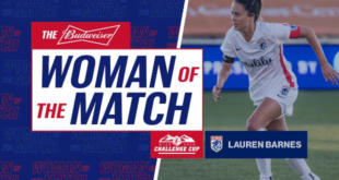 Lauren Barnes Woman Of The Match - 30 June 2020